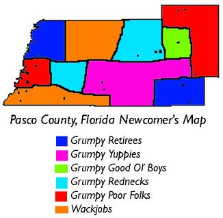 Pasco County, Florida Newcomers Map