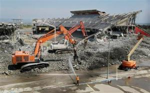 What remains of Candlestick Park, once home of the NFL's 49ers and baseball's San Francisco Giants.